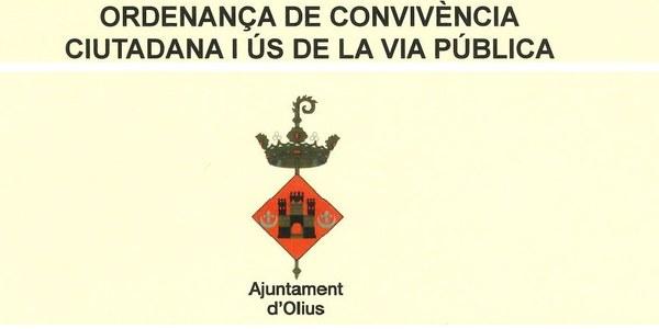 Recordatori de l'Ordenança de Convivència Ciutadana i ús de la Via Pública